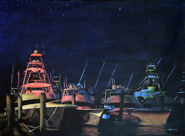 Painting - Primary Nightlights by Christopher Reid