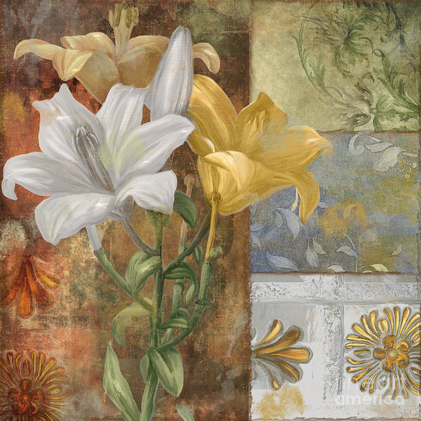 White Lily Painting - Primavera by Mindy Sommers
