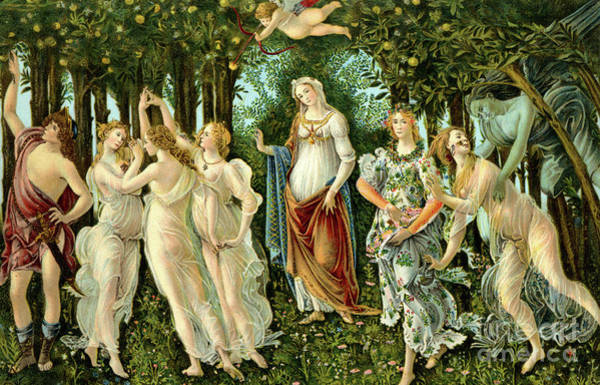 Fruit Trees Wall Art - Painting - Primavera Or Spring by Sandro Botticelli