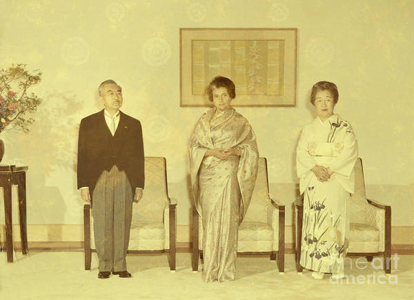 Emperor Of Japan Wall Art - Photograph - Prime Minister Of India Indira Gandhi by Santosh Singh