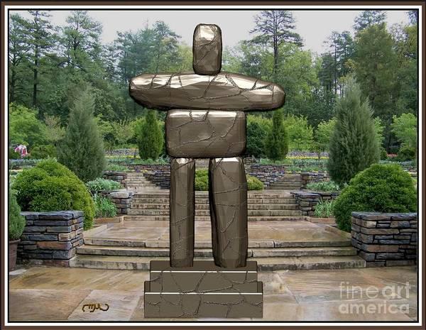 Dummy Digital Art - Primitive Statue 3 by Pemaro