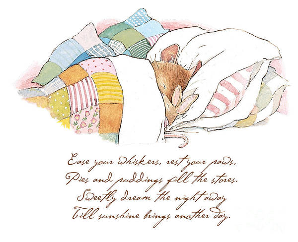 Wall Art - Drawing - Primrose Goes To Sleep by Brambly Hedge