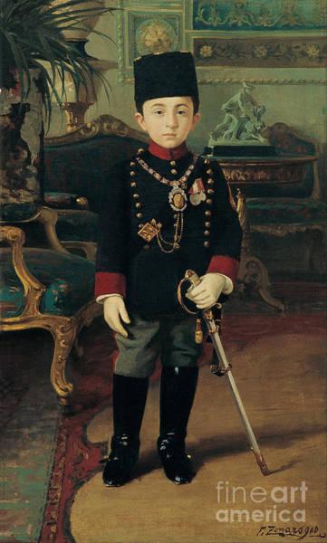 Fausto Zonaro Painting - Prince Abdurrahim Efendi by Celestial Images
