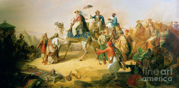 Wall Art - Painting - Prince Albrecht Von Preussen On His Orient Travel In 1843  by H Kretschmer