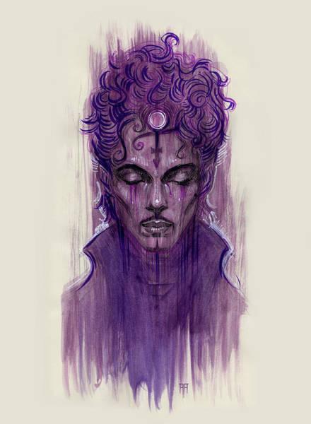 Rockstar Painting - Prince by Alex Ruiz