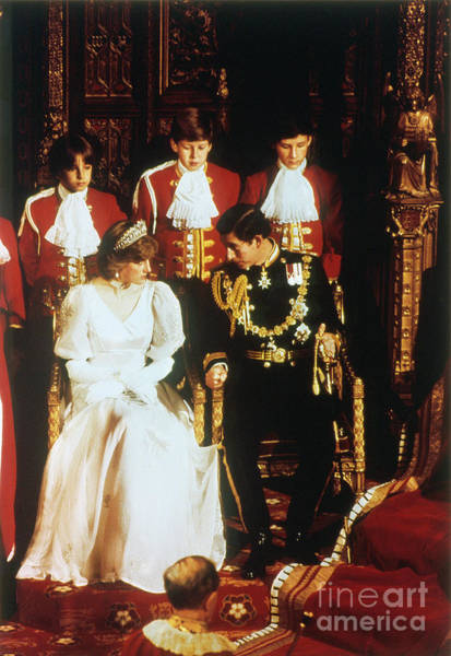 1981 Photograph - Prince Charles And Diana by Granger