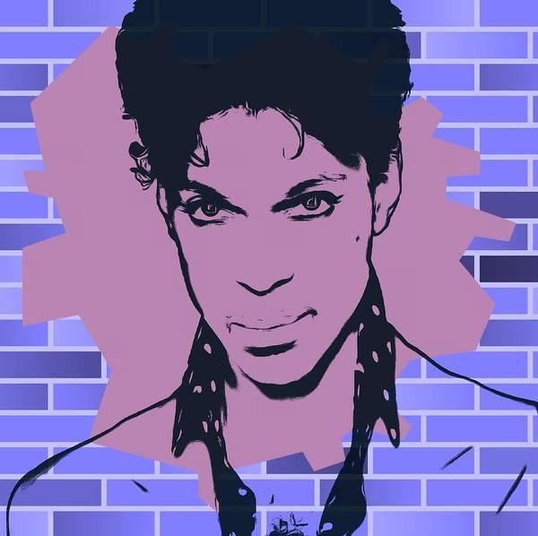 Purple Rain Digital Art - Prince Graffiti Tribute by Dan Sproul