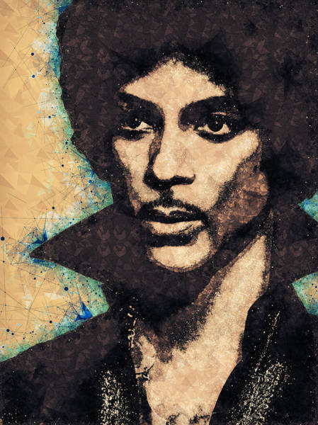 Prince Rogers Nelson Wall Art - Mixed Media - Prince Illustration by Studio Grafiikka