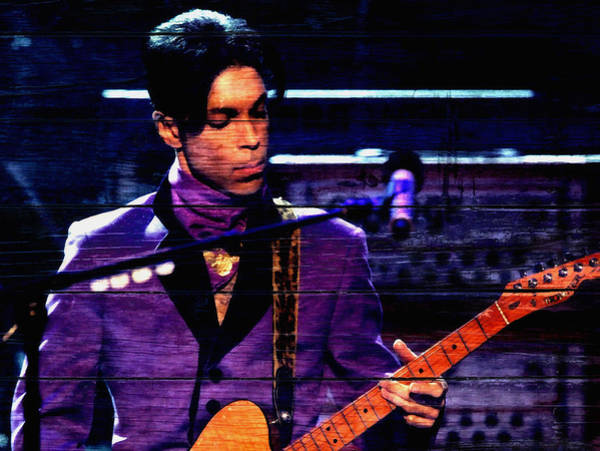 Wall Art - Mixed Media - Prince In Concert by Brian Reaves