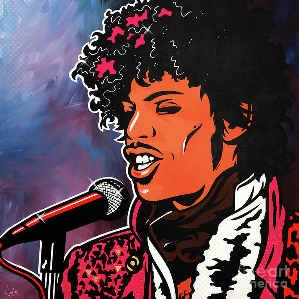 Prince Rogers Nelson Wall Art - Painting - Prince by James Lee