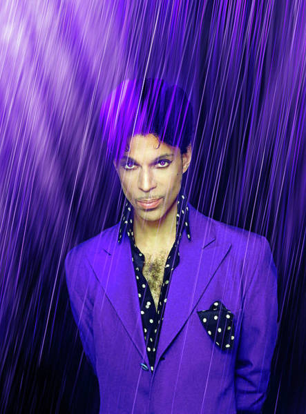Prince Rogers Nelson Wall Art - Mixed Media - Prince by Mal Bray