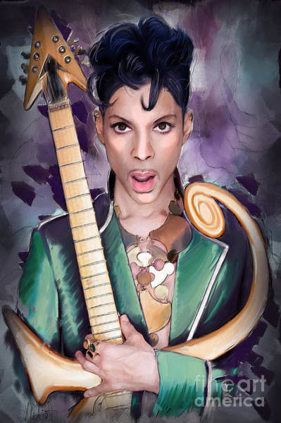 Wall Art - Painting - Prince by Melanie D