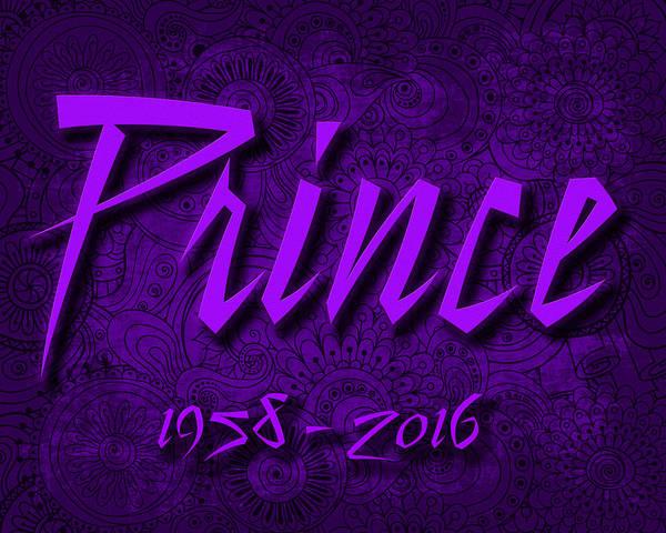Prince Rogers Nelson Wall Art - Digital Art - Prince Memorial by David Smith