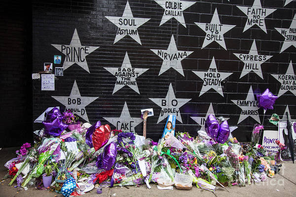 Wall Art - Photograph - Prince Memorial First Avenue Minneapolis 1 by Wayne Moran