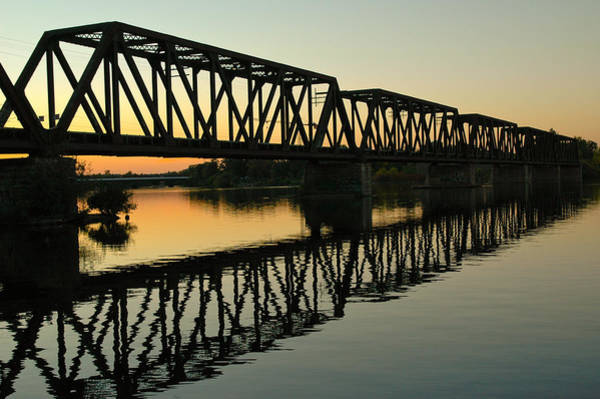 Prince Of Wales Bridge At Sunset. Art Print