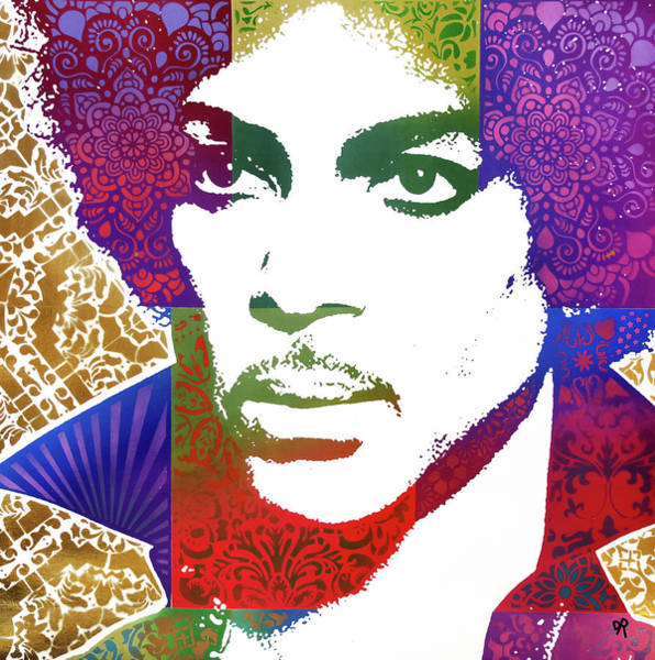 Wall Art - Painting - Prince Patchwork by Dean Russo Art