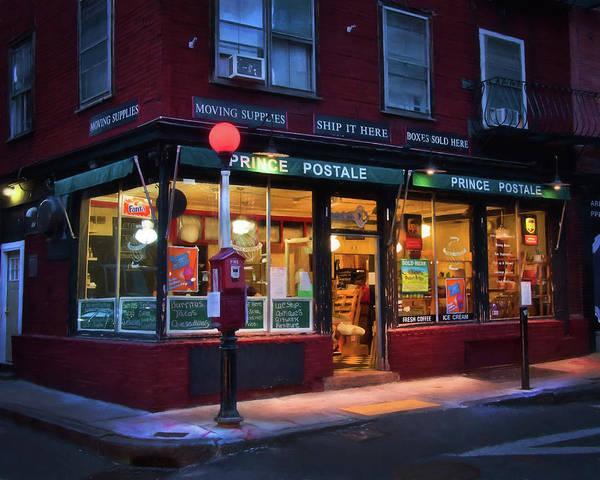 Photograph - Prince Postale - Boston North End by Joann Vitali