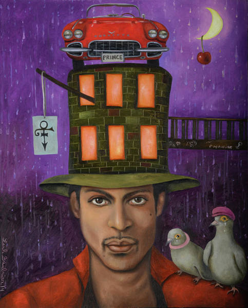 Prince Rogers Nelson Wall Art - Painting - Prince Pro Image by Leah Saulnier The Painting Maniac