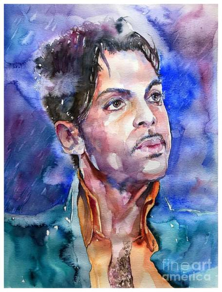 Pianist Painting - Prince Rogers Nelson Super Bowl by Suzann's Art