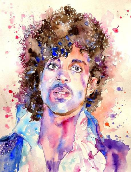 Usa Painting - Prince Rogers Nelson Watercolor by Suzann's Art