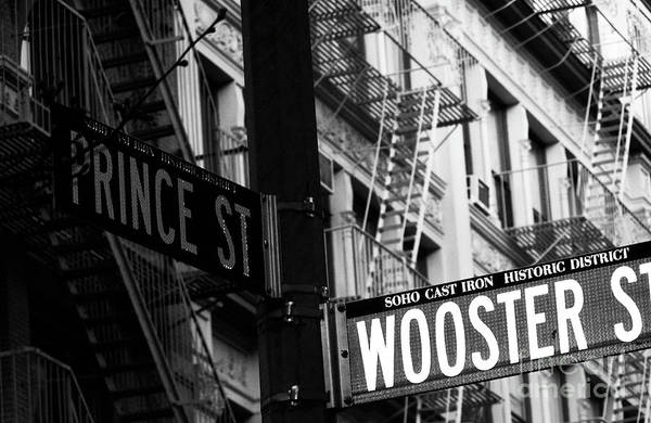Prince St Wooster St Art Print