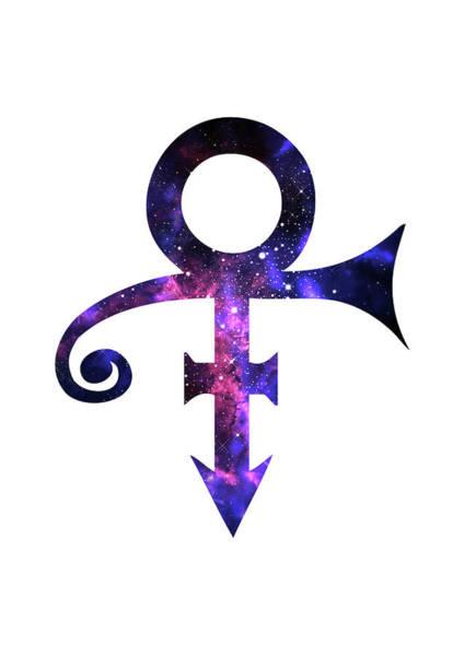 Purple Rain Digital Art - Prince Symbol by Elmas POLAT BASOGLU