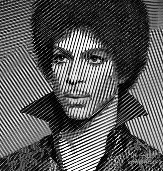 Digital Art - Prince - Tribute In Black And White Sketch by Rafael Salazar