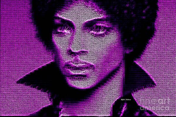 Digital Art - Prince - Tribute In Purple by Rafael Salazar
