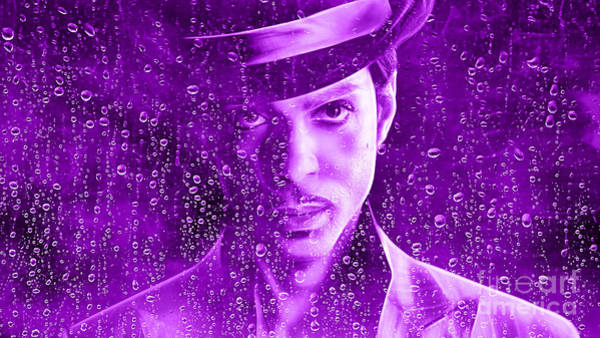 Funk Mixed Media - Prince Tribute Purple Rain by Marvin Blaine