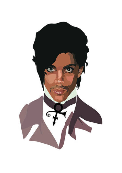 Purple Rain Digital Art - Prince With Symbol by Anna McKay