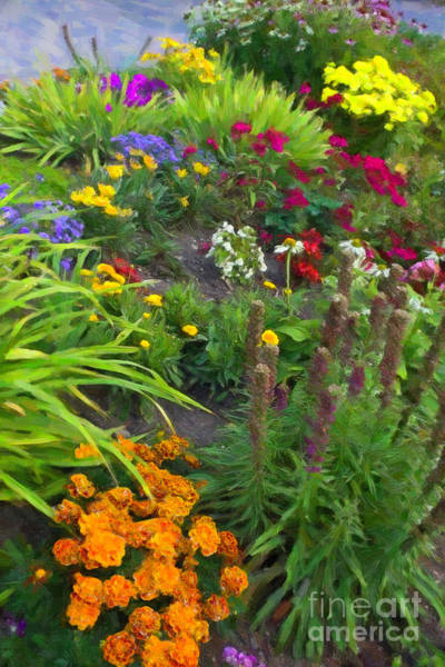 Digital Art - Prince's Island Park Garden #2 by Donna L Munro