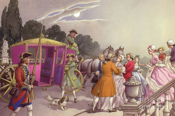 Lady In Waiting Painting - Princess Augusta, About To Give Birth, Was Bundled Into A Coach by Pat Nicolle