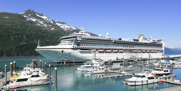 Princess Cruise Lines Photograph - Princess Cruise Lines Whittier Alaska by Sam Amato