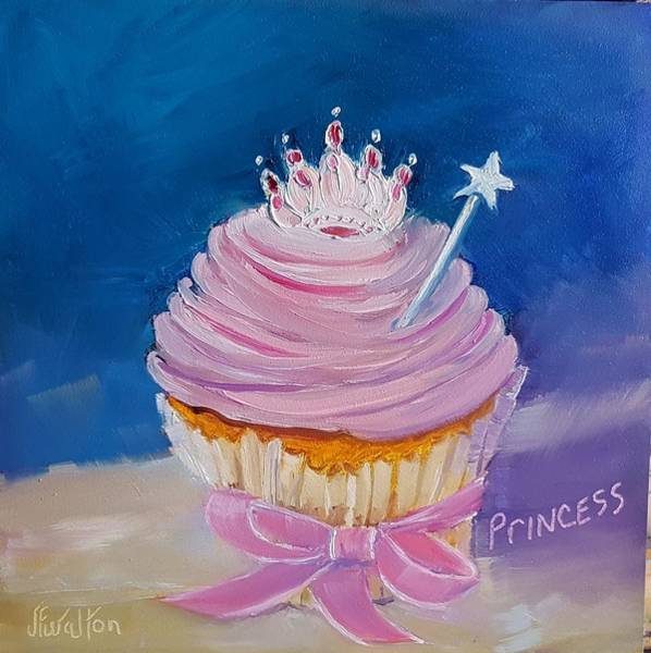 Painting - Princess Cupcake by Judy Fischer Walton