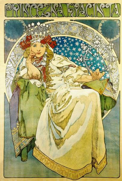 Painting - Princess Hyacinth by Alphonse Mucha