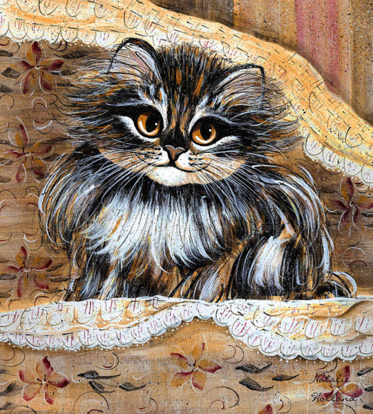 Snuggle Painting - Princess Kitty by Natalie Holland
