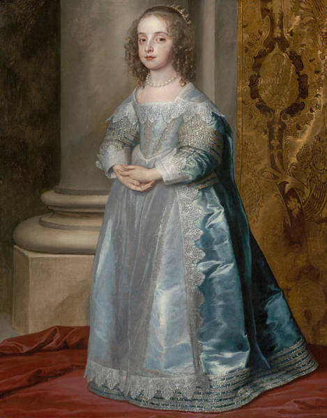 Painting - Princess Mary, Daughter Of Charles I by Anthony van Dyck