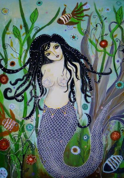 Painting - Princess Mermaid by Pristine Cartera Turkus