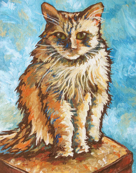 Calico Kitten Wall Art - Painting - Princess by Sandy Tracey