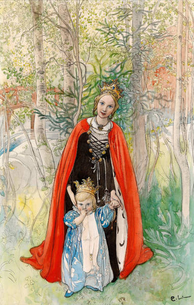 Wall Art - Painting - Princess Spring by Carl Larsson
