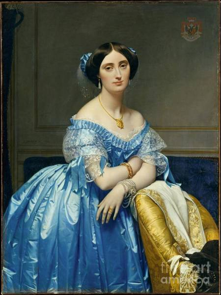 Wall Art - Painting - Princesse De Broglie  by Celestial Images