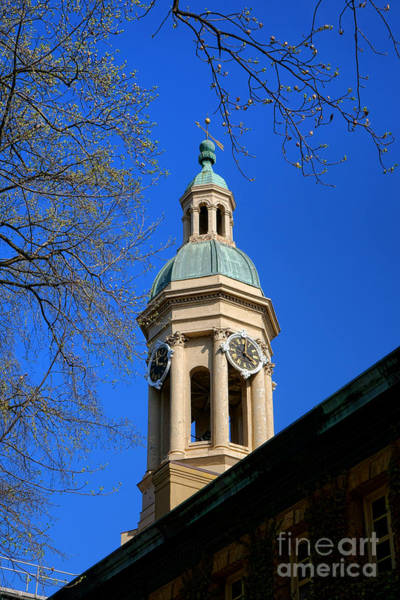 Photograph - Princeton University Nassau Hall Bell Tower   by Olivier Le Queinec