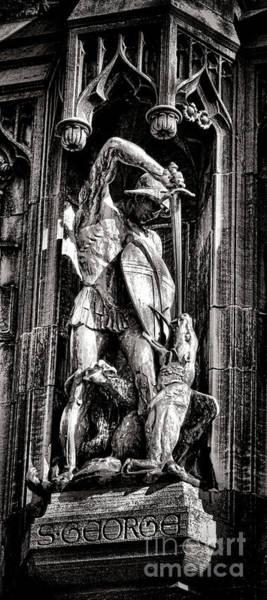 Photograph - Princeton University Saint George And Dragon Sculpture by Olivier Le Queinec
