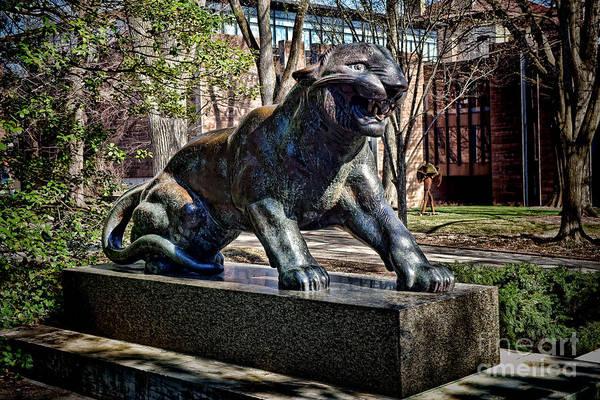 Photograph - Princeton University Tiger Statue by Olivier Le Queinec