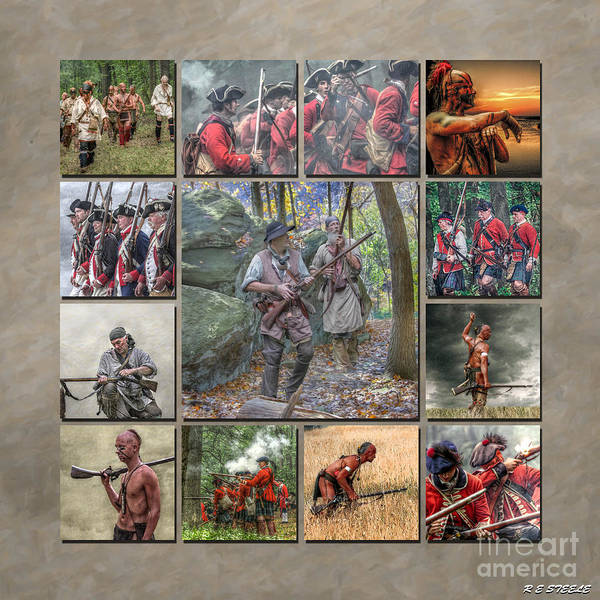 Continental Army Photograph - Print Collection French And Indian War by Randy Steele