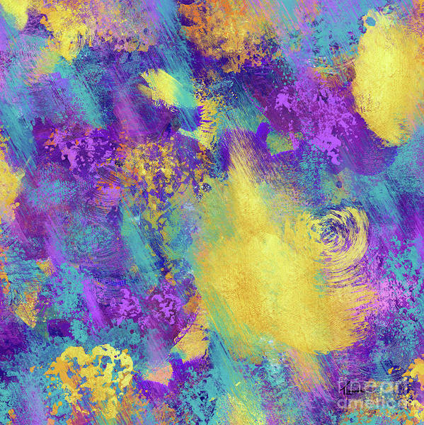Wall Art - Painting - Printemps A Paris, Springtime In Paris, Abstract Expressionism by Tina Lavoie