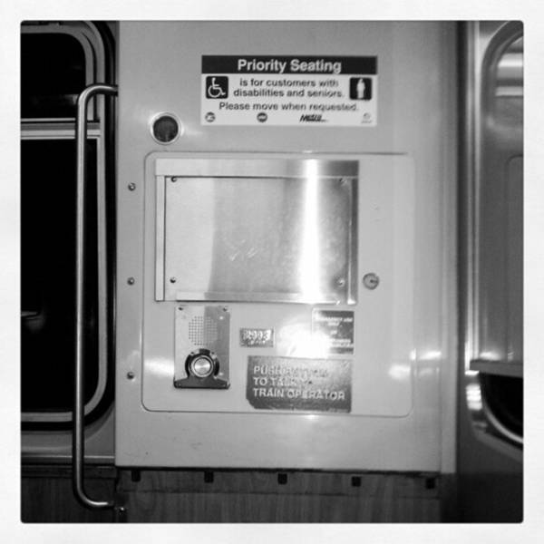 Photograph - Priority Seating... Blue Line L Train by Tammy Winand
