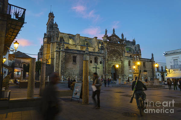 Photograph - Priory Church In Spain Square Puerto De Santa Maria Cadiz Spain by Pablo Avanzini