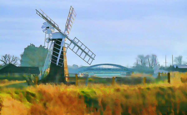 Priory Windmill Art Print