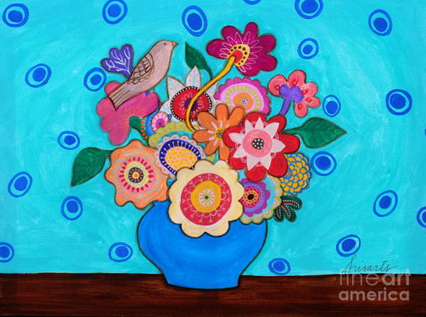 Painting - Prisarts Blooms by Pristine Cartera Turkus
